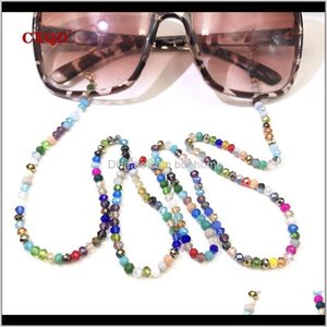 Pendant Necklaces Fashion Reading Glasses For Women Sunglasses Cords Casual 4Mm Glass Color Plating Beaded Eyeglass Strap Rope Masks C Ltje6