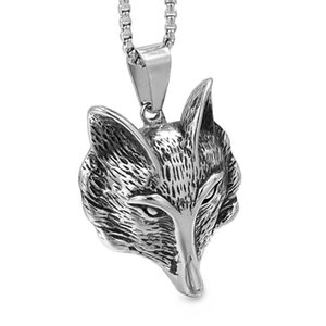 Anniversary Hiphop Rock Men or Women 316L Stainless Steel Pendant Necklace Vintage Jewelry Animal Jewellery,P1921