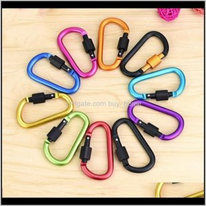 Outdoor Gadgets And Camping Hiking Sports & Outdoors8Cm D Type Carabiner With Lock Quick Nut Buckle Buckles Aluminum Backpack Hanging 174 X2