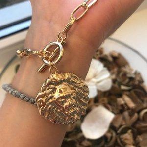 Pingente Colares Chic Gold Color Leão T Bar O Colar Colar Para As Mulheres Menina Elegante Linda Moda Jóias