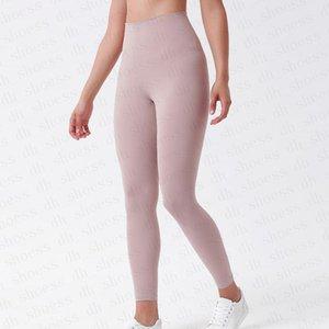 2021.Lulu.32 Designer Designer Yoga Outfit Pantaloni a vita alta Allinea Sport Gym Indossare leggings Elastico Fitness Complessiva Collant Completo Allenamento Pantaloni stretti