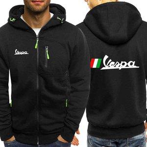 Vespa Brand Hoodie Fleece Cardigan Hooded Coat Men's Hoodies Sweatshirts Pullover For Male Hoody Sweatshirt