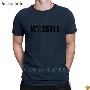 Trendy Summer Wrestle T-shirt T-shirt T-shirt da uomo T-shirt originale T-shirt carino Stampa edificio anlarach o collo