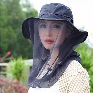 المرأة قبعة الشمس في الهواء الطلق شبكة omnidilectional 360 درجة واقية من الشمس المضادة للبعوض المشي لمسافات طويلة الصيد تنفس قبعة القبعات