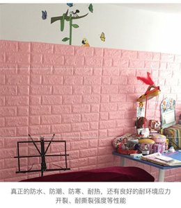 70*77 3D Brick Wall Stickers DIY Self Adhensive Decor Foam Waterproof Wall Covering Wallpaper For TV Background Kids Living Room 635 S2