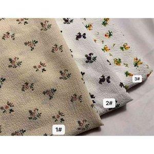 منتجات جديدة من الربيع والصيف 2021 البوليستر شعرية الظلام فقاعة الأزهار طباعة المرأة ارتداء قميص قميص النسيج أزياء تنورة