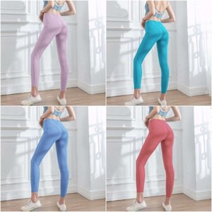 New Material Super Soft Yoga Outfits For Women Yoga Pants With Pockets High Waist Leggings Athleisure Gym Workout LL
