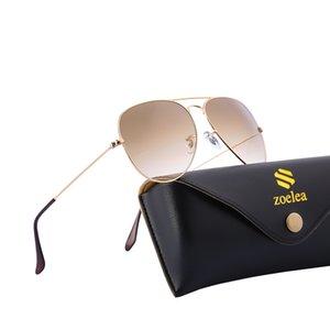 Óculos de sol piloto clássicos para homens mulheres real espelho de vidro lente frame de metal uv400 Proteção de marca designer tons com caixa de couro EUA FBA entrega rápida