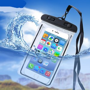 Noctilucent Waterproof bag PVC Protective Mobile Phone Pouch cell case For Diving Swimming Sports iphone x max 11 12 S 6 NOTE 7 free drop ship