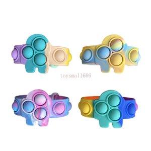 Fidget Toys Silicone Bracelet Squeeze Toy Soft Dimple Bubble Bracelet Stress Relief Toys Puzzle And Safety