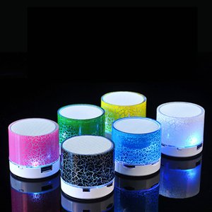 Mini Speaker Bluetooth Speakers LED Colored Flash A9 Handsfree Wireless Stereo Speaker FM Radio TF Card USB For Mobile Phone Computer