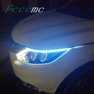 Araba Gündüz Koşu Işık DRL LED Oto Lamba Dış Işıklar Gündüz Styling Interiorexternal için Su Geçirmez