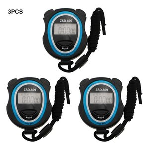 Timers 3pcs Multifunction Outdoor Sports Digital Stopwatch Anti-vibration Referees Large Display Trainers Kitchen Timer For Fitness