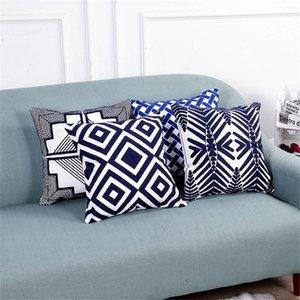 Pillow Case 45x45cm Geometric Stripes Sofa Pillowcase Pink Cushion Cover Throw Home Bed Chair Decoration 17.72x 17.72inch