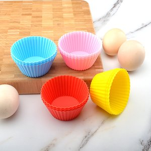 Muffin Paper Cup Mold Epoxy Resin Silicone Multi Colours Baking Molds Muffins Biscuit Cake Bread Waffle Mould 0 38jd L2 WMMI