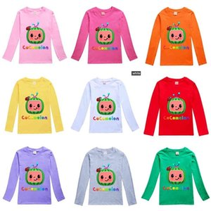 Children's Spring Cotton Pullovers Tops Cocomelon Cartoon Long Sleeved T-shirt Round Neck Casual Fashion Boys Girls Clothes 2-16Y G49F4LM