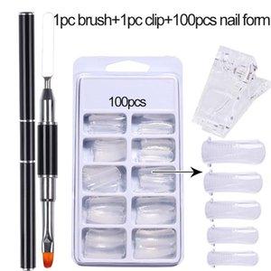 False Nails Nail Tips For Finger Extention Set Art Flase Quick Building Gel Extension Mold UV Builder