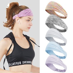 Luxury designer fashion headwear men and women running Lu motion with yoga sweat-absorbent bunch with color high spring tissue antiperspiran