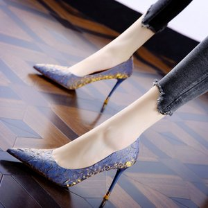 Pointed stiletto high heels Dress Shoes women spring 2021 fairy style fashion all-match ladies shallow mouth single shoe trend