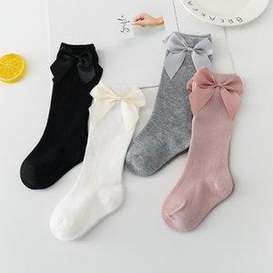 Ins Baby Girls Knee High Socks Kids Toddler Sock Big Bow Cotton Mid Sock For Little Girl Tube Socks M2710 145 Y2