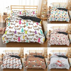 Bedding Sets Homesky Dachshund Set High Quality Duvet Cover Cartoon Animal Comforter Soft Twin Single Full Queen King Bed Linen 40