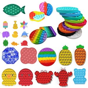 Express Push Pop Fidget Toy Toy Bubble Sensory Autism Needs Needs Stress Reliever Squeeze Squeeze Sensory Toy for Kids Family