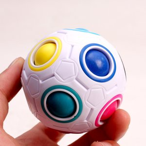 Antistress Cube Favors Rainbow Ball Puzzles Football Magic Educational Learning Toys for Children Adult Kids Stress Reliever