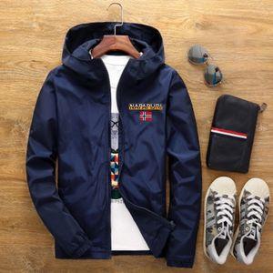 Men's Street Waterproof Jacket Parker Aviator Hooded Windbreaker Thin Zipper Casual Spring Autumn 2021