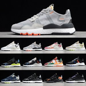 Preferential Wholesale nite jogger women running shoes Triple black white TRACE PINK ICE MINT reflective mens trainers sports sneakers
