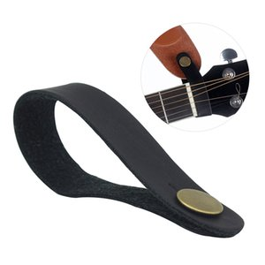 Acoustic Guitar Neck Strap Button Headstock Adaptor Synthetic Leather with Metal Fastener