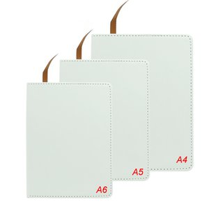 Sublimation A4 A5 A6 DIY Blank Notebook Customized Faux Leather Notebooks Heat Transfer Printing A12 OM99