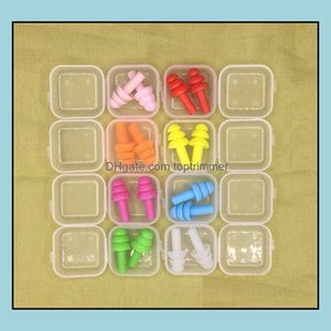 Supply Care Health Beauty1000Pairs Sile Earplugs Swimmers Soft And Flexible Plugs For Travelling & Slee Reduce Noise Ear Plug 8 Colors Drop