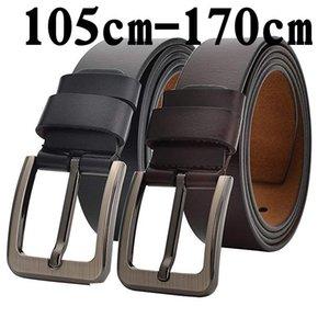 160 Belts Genuine 140 150 170cm Large Size Luxury Designer Men Split Leather High Quality Waist Belt