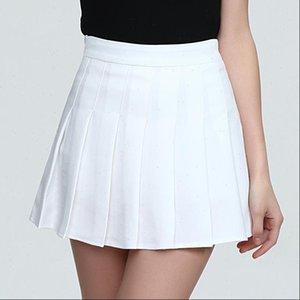 Women Skirt Preppy Style High Waist Pleated Safety Pants Chiffon School Uniform Skirts Sweet Girls Solid Short Mini