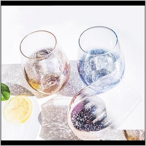 Mugs 20Oz Starry Sky Tumbler Lead Crystal Egg Shaped Milk Juice Cup Wine Glass Coffee Beer Mug For Wedding Party Gifts Eregv Anst7