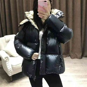 2020 Winter Brand Monclair Women Down Coat Ultra Light Down Jacket Green Black Down Puffer Jacket Hooded Girl Lady