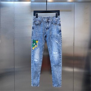 mens jeans Fashion Skinny Straight Slim Ripped elastic Casual Motorcycle Biker Stretch Denim Trouser Classic Pants jeans pants size 28-36