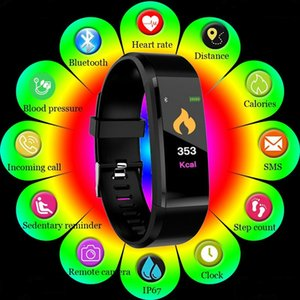 2021 NEW ID115 Plus Waterproof Smart Bracelet Bluetooth 4.0 Fitness Tracker Pedometer Sleep Heart Rate Monitor Remote Camera Touch Screen SmartWatchs Wristband