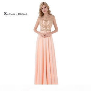 Elegant Sleeveless Jewel Hollow Floor Length Prom Dresses Ruched Beads Chiffon A-Line Homecoming Dress In Stock LX475