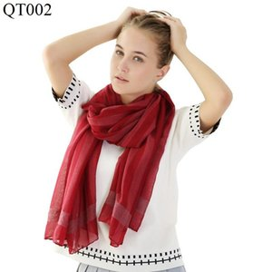 F&U Tr-cotton Viscose Long Striped Soft Scarf Wrap Luxury Shawl Fashion And Warm For Woman In Winter 11 Colors Choice Bandanas
