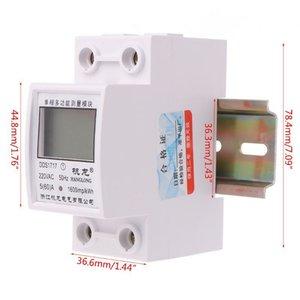 OOTDTY 5 (60) Один 220 В 50 Гц EENFASE DIN RAIL KWT WATT UUR DIN-RAIL ENERGRE ENGERE MESTER LCD