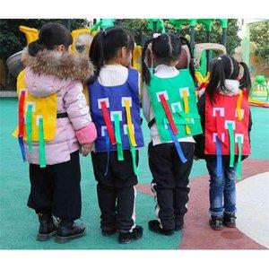 Niños juego al aire libre parental kindergarten captura cola chaleco juguete entrenamiento equipo juguete familia deportes al aire libre juego