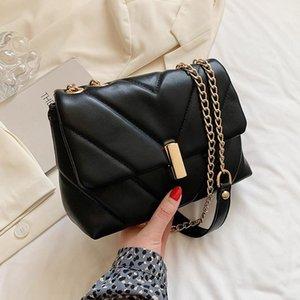 أكياس المساء v- شكل صغير بو الجلود المرأة حقيبة يد و محافظ المتسوق الكتف حقيبة crossbody سلسلة 2021 مصمم فاخر أسود أخضر