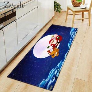 Carpets Zeegle Rug Christmas Printed Carpet Anti-slip Water Absorbent Entrance Doormat Bedroom Hallway Soft Foot Mat