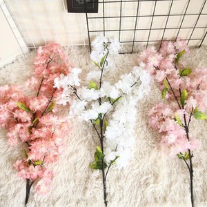 Artificial Flower Plant Bonsai Wedding Decoration Wall Cherry Blossoms Spring Sakura Diy Sztuczne Kwiaty Pink Decorative Flowers & Wreaths
