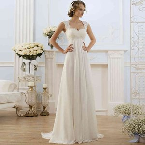 Wedding Simple Empire Taille for Pregnant Woman Chiffon Boho Dress Hot Buy Plus Size Cheap Bride