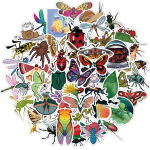 50Pcs Insect Stickers Non-random For Car Bike Luggage Sticker Laptop Skateboard Motor Water Bottle Snowboard wall Decals Kids Gifts