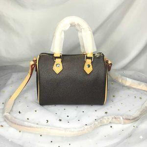 M61252 Lady Luxury Nano Speedy Tote Wallet Pheck Crossbody мини подушка сумки сумки кошельки женские дизайнерские бочкообразные