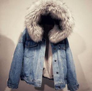 Femmes Hiver Designer Manteaux Mode Capuche Jean Vestes Fourrure Chaud Epaisvée Vêtements De Parkas Casual Womens Vêtements
