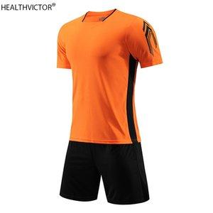 Breathable Run Short Sleeve Sports Suit T-shirt Shorts Tracksuit Unisex Kid Child Boy Girl Adult Men Women Soccer Jersey Set A0521
